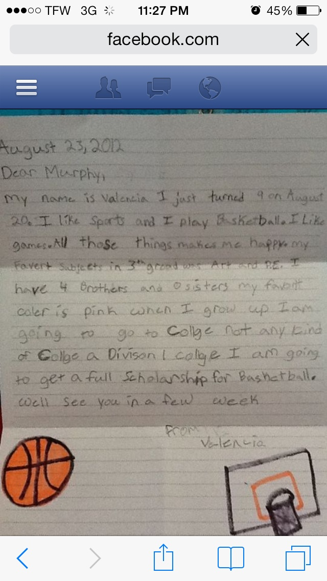Letter Written By Valencia 2012